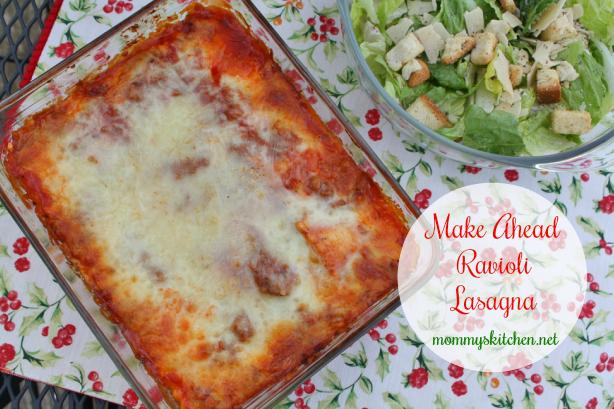Make Ahead Ravioli Lasagna