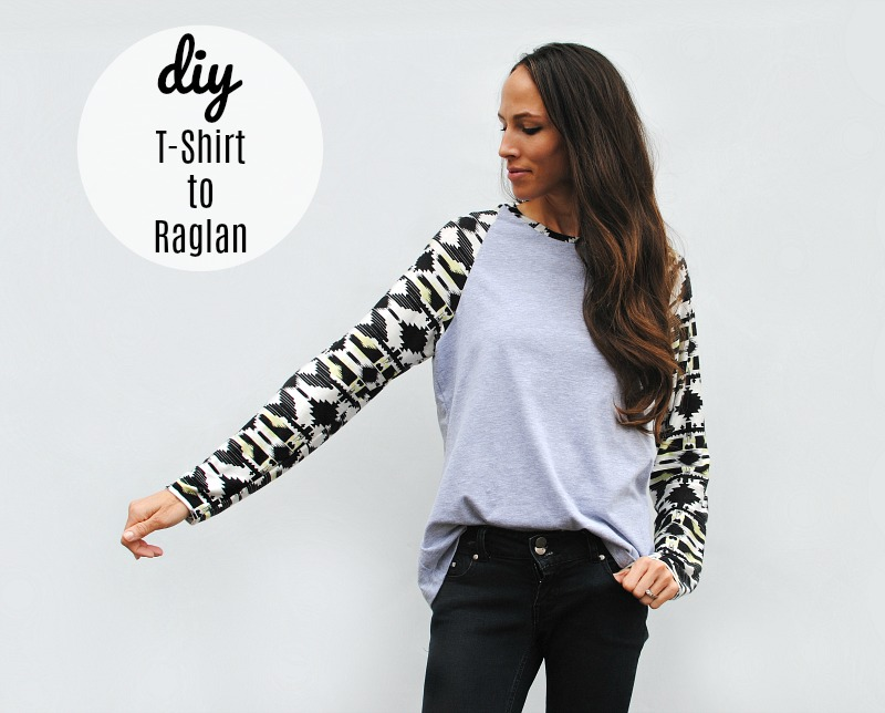 DIY: T-shirt to Long Sleeve Raglan