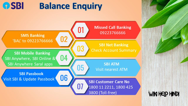 SBI BLANCE ENQUIRY TOLL FREE NUMBER
