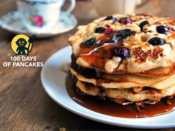 Pancake-with-blueberries