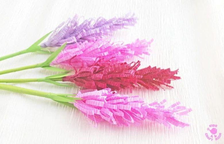 paper lavender flower craft