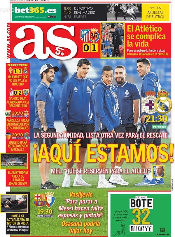 """Real Madrid, AS: """"¡Aquí estamos!"""""""