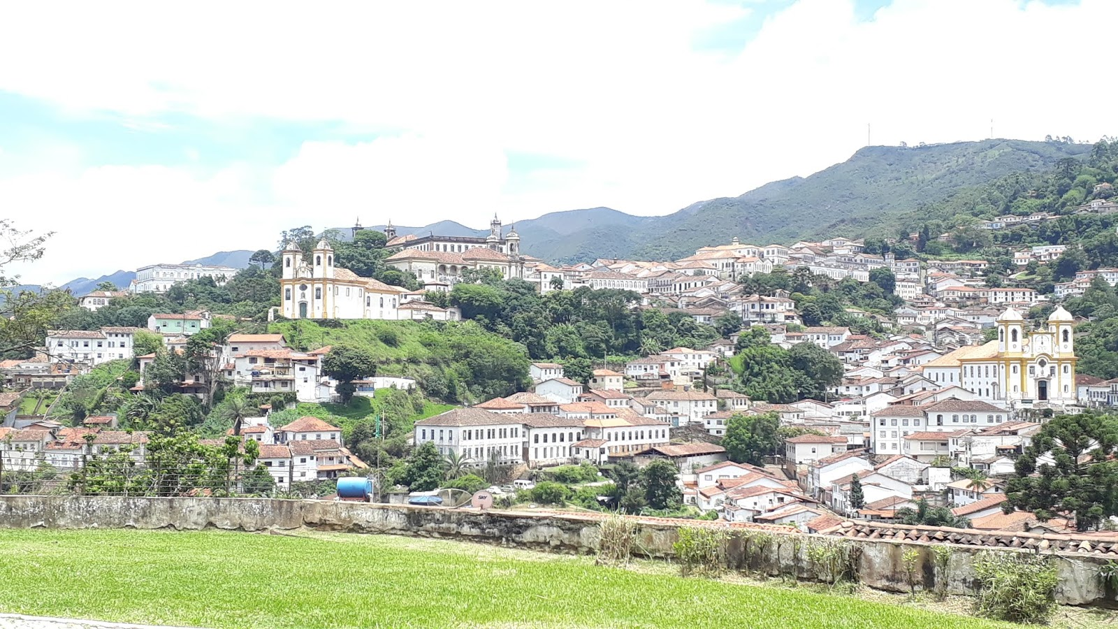 Vista para a cidade de Ouro Preto a partir da Igreja de nossa Senhora as Dores