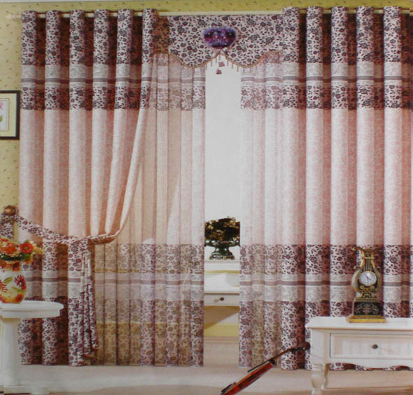 Modern Full Color Curtains for Living Room Ideas