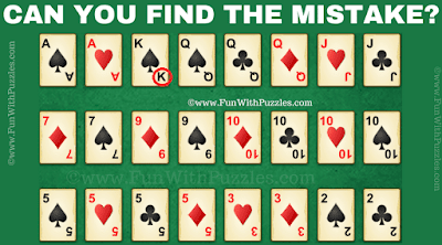 Answer of Can You Find the Mistake? Cards Picture Riddle