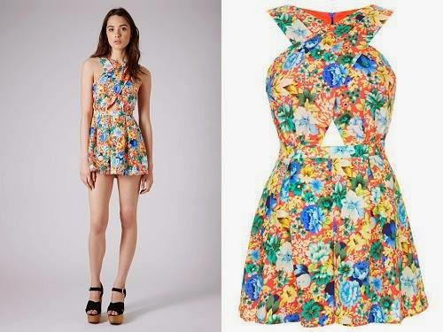 Fluro Flower Cross Playsuit