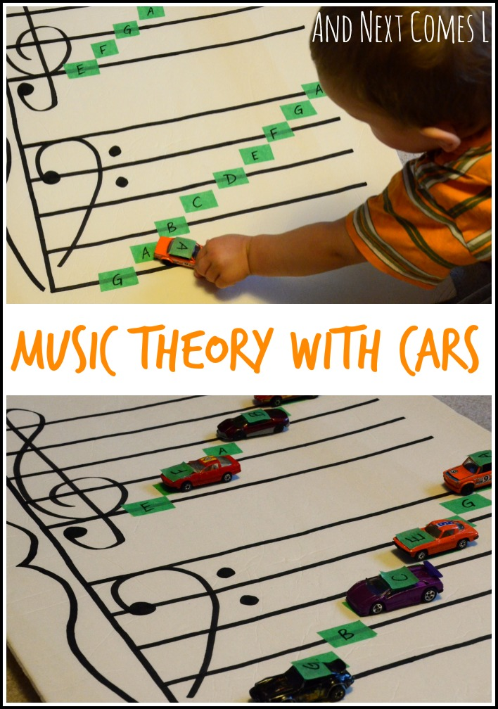 Music theory game for kids: learning about grand staff using cars from And Next Comes L