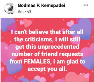 Married Man Cries Out After Receiving Many Friend Requests From Females Because He Advised Ladies To Share Their Men With Other Women