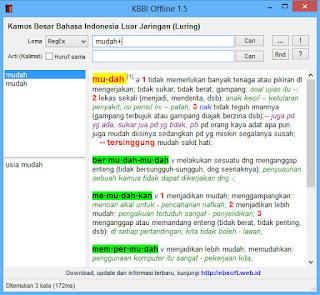 DOWNLOAD KBBI OFFLINE UNTUK PC/ LAPTOP TERBARU