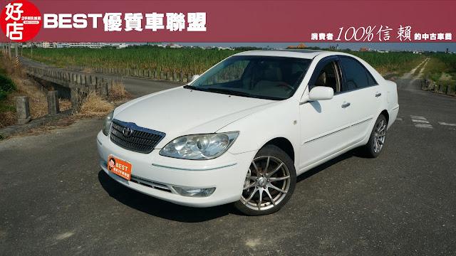2004年 Toyota Camry 白色 豐田中古車