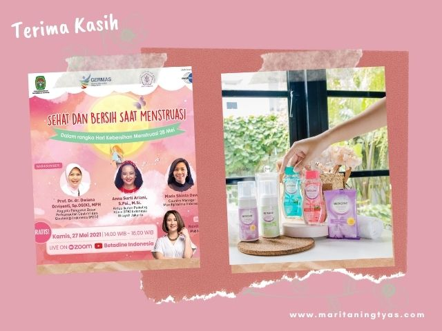 webinar menstruasi dari betadine