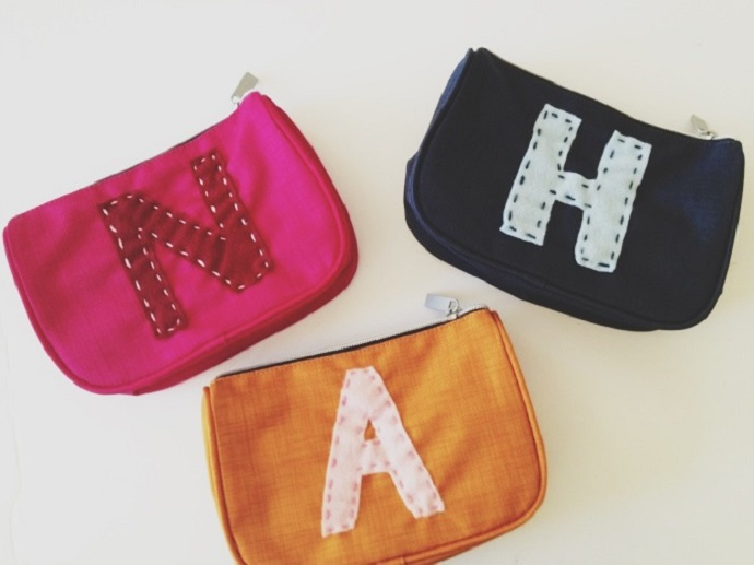 monogrammed pencil pouches