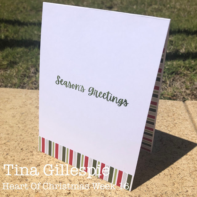 scissorspapercard, Stampin' Up!, Heart Of Christmas, Words Of Cheer, Gingerbread Dies, Heartwarming Hugs DSP, Sheetload Of Cards, Christmas Card