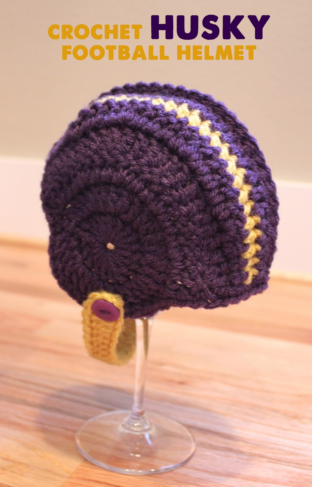 Crocheted football helmets repeat crafter me for Crochet crafts that sell well