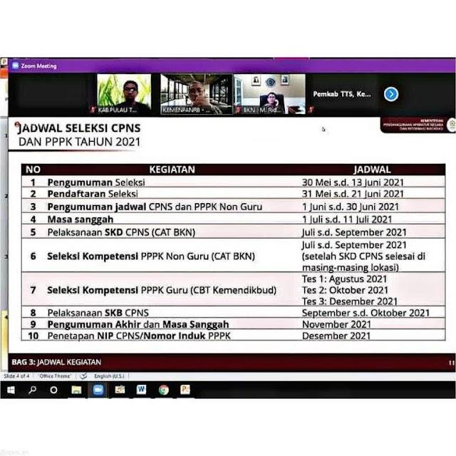 Catat! Pendaftaran CASN dan PPPK 2021 Dibuka 31 Mei