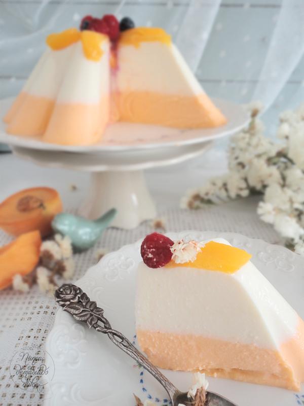 pastel-postre-dessert-nata-melocoton-peach-heavy-cream-reto-disfruta-julio
