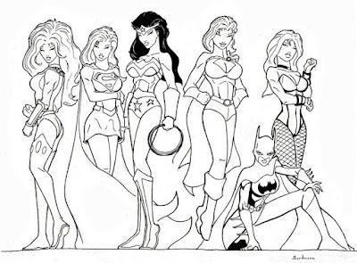Wonder Woman and Friends, by Sebastien Dardenne