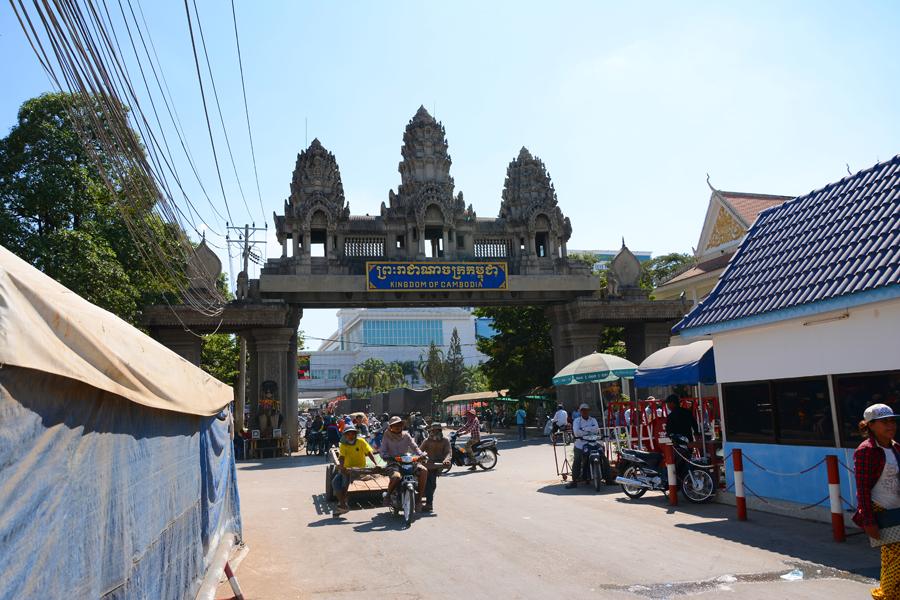 Aranyaprathet / Poipet, przejście graniczne Tajlandii z Kambodżą