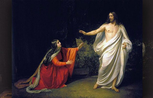 """""""Aparição de Jesus Cristo a Maria Madalena"""" Alexander Ivanov (1834-1835)"""