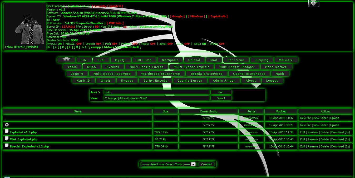 Exploded v1 3 Shell Backdoor ~ MSupiani Archieves
