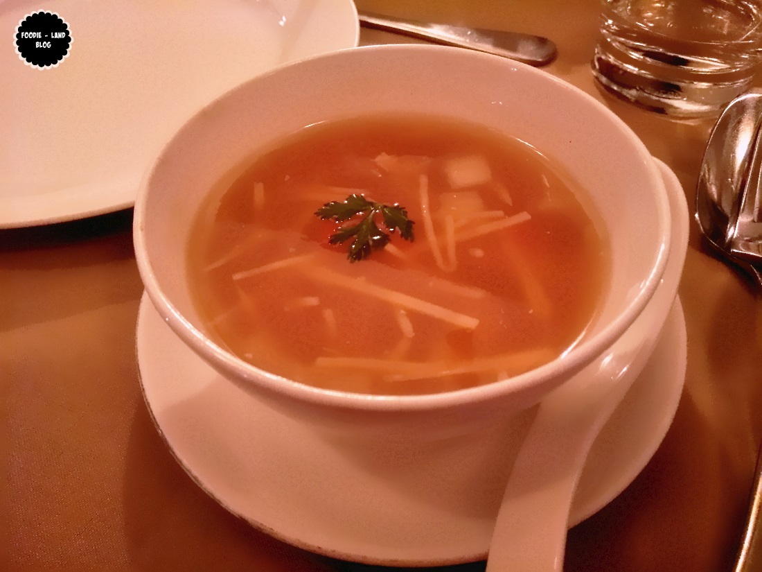 Sweet and sour tofu soup with crab meat @ Hunan | Koramangala | Bangalore