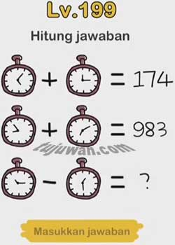 Brain Out : Hitung Jawaban Brain Out Level 199