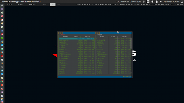 14. LFM (File Manager) in DracOS