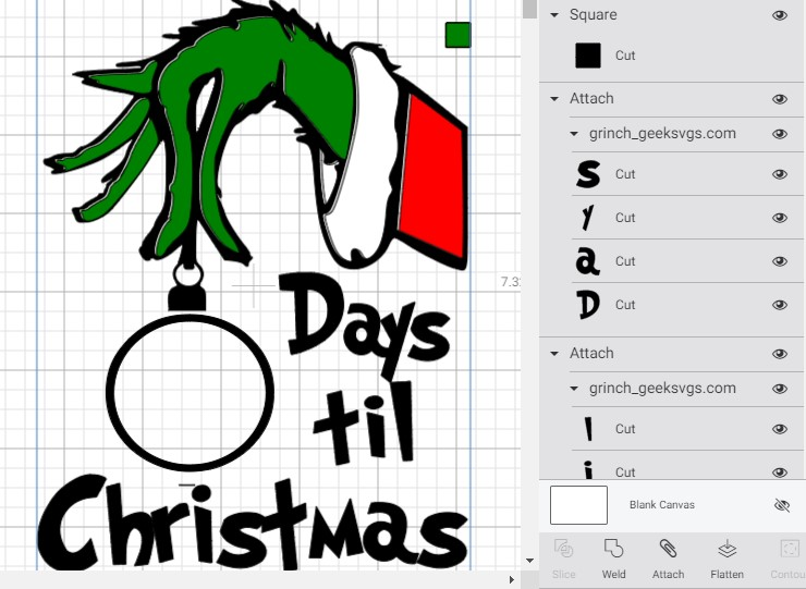 Christmas Craft Challenge Week Three A Christmas Countdown Layering Vinyl With Registration Marks