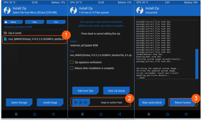 cara update rom miui 10 global Beta menggunakan recovery TWRP