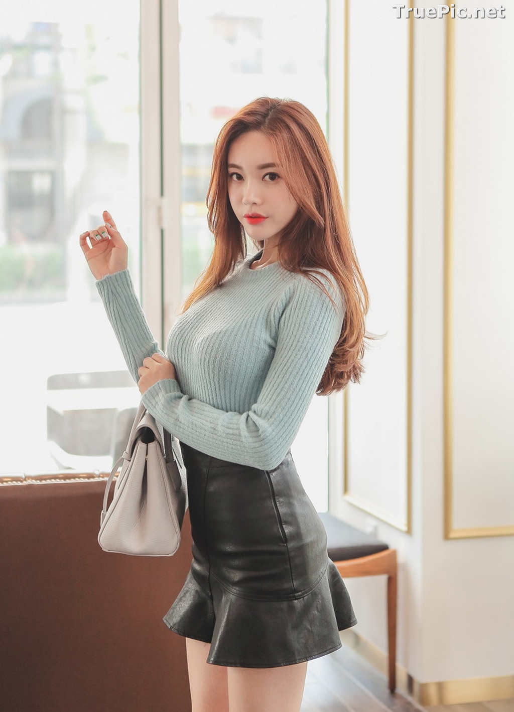 Image Korean Fashion Model – Hyemi – Office Dress Collection #3 - TruePic.net - Picture-3