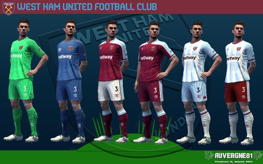 Kits West Ham United 2021-2022 For PES 2013