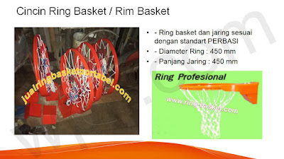 ring basket sesuai FIBA