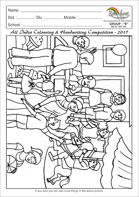 Colouring page for Group E (Std.9th and Above)