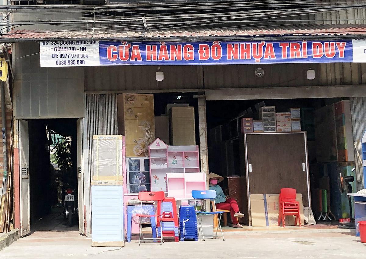 Cửa hàng tủ nhựa đồ nhựa Trí Duy ở 324 Ngọc Hồi