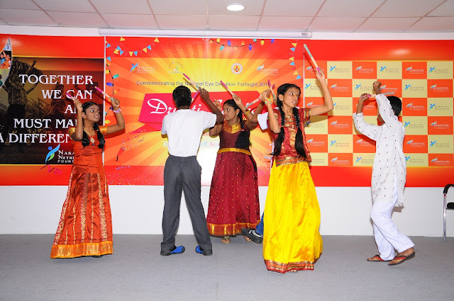 Visually Challenged Children Performing