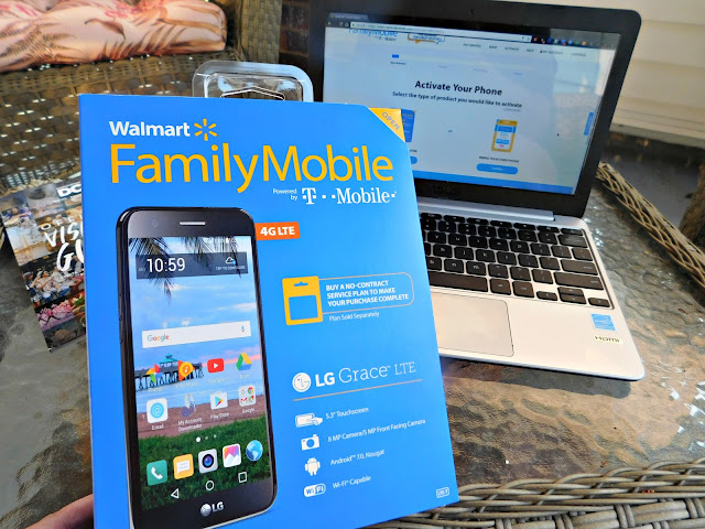Activating LG Grace LTE on Walmart @FamilyMobile Website is a breeze #SummerisforSavings #WFM