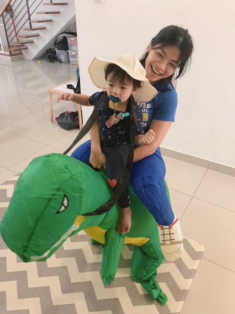 dinosaur cosplay inflatable lazada malaysia