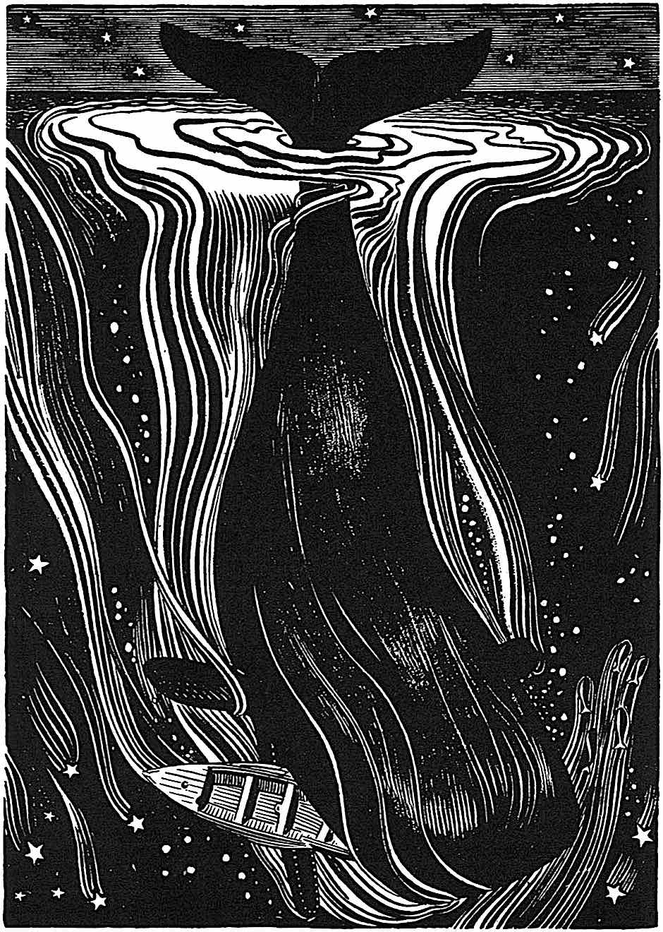 a Rockwell Kent illustration for the book 'Moby Dick'