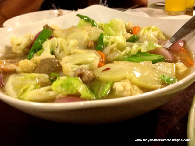 chopsuey at Ocho Seafood and Grill Tacloban