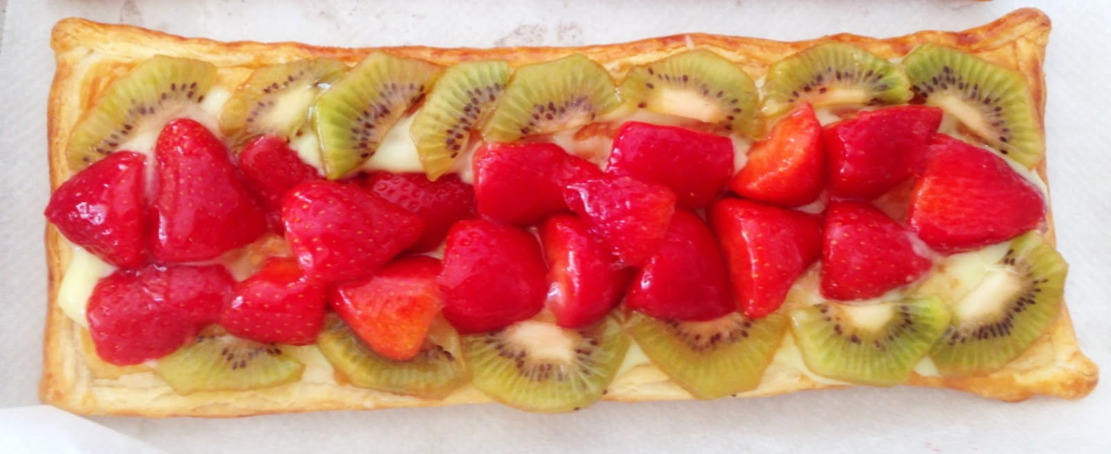 El Blog de Eliseta #elisetactiva: Tarta de Hojaldre Con Fresas, Kiwi ...