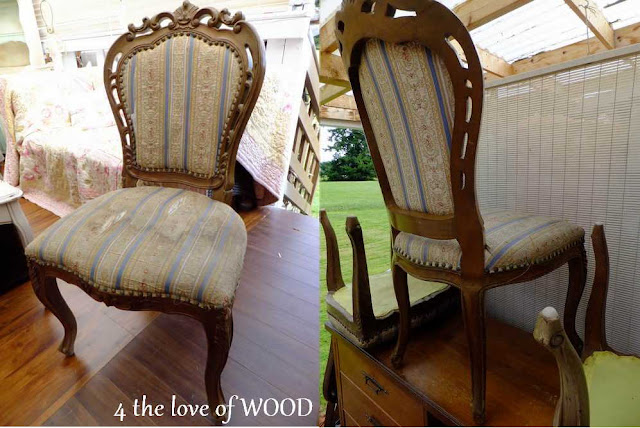 Chairs At Staples Aluminum Folding 4 The Love Of Wood: How To Upholster An Open Chair Back - Step One
