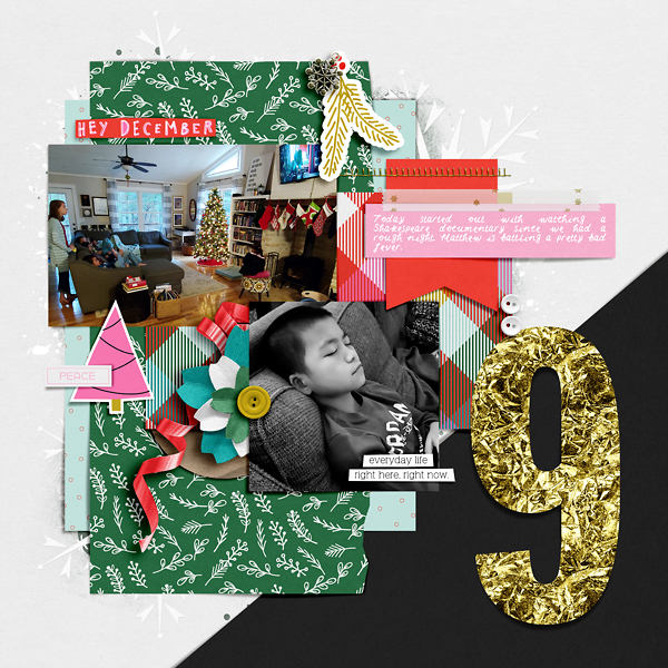 Digital Scrapbook Page Document Your December Day 9