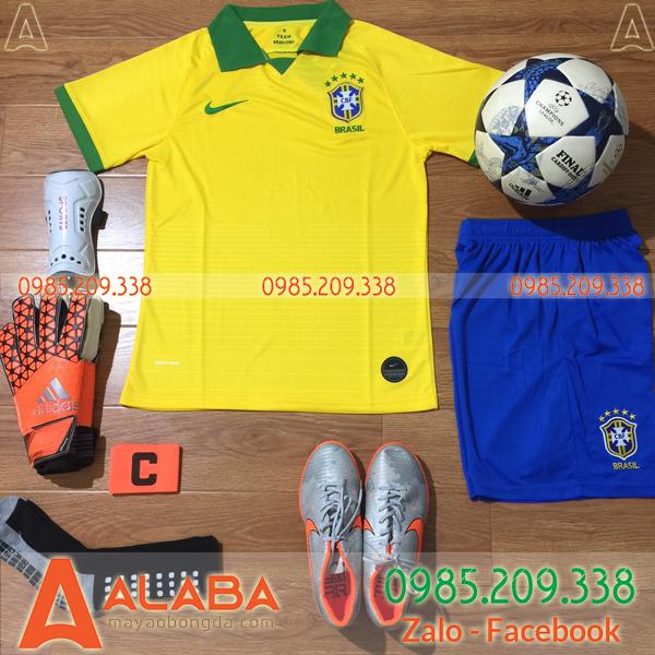 Áo đội tuyển Brazil màu vàng xịn