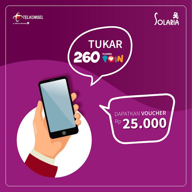 #Solaria - #Promo #Voucher 25 Ribu Dengan Tukar 260 Poin Telkomsel