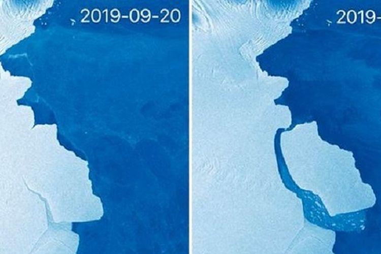 315 Miliar Ton ES Antartika Terlepas