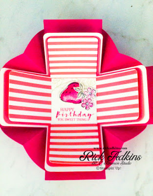 Check out this Explosion Box using the Sweet Strawberry Bundle and Pattern Party Host Designer Series Paper from Stampin' Up!