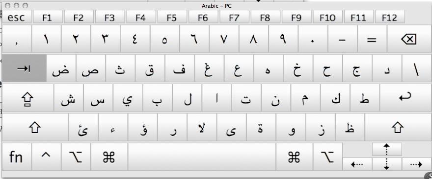 tastiera araba