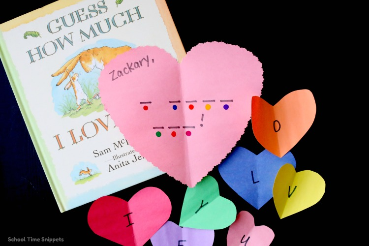 Valentine's Day Secret Message Activity