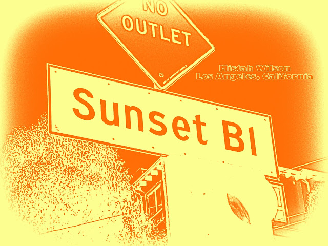 Sunset Boulevard, Los Angeles, California SUNSET PRALINE by Mistah Wilson