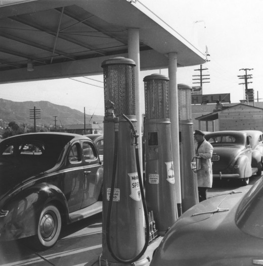 Girl Driving Car Wallpapers Black Amp White Photos Of Los Angeles In The 1940s Vintage